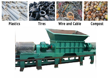 PC Auto Control Limbah Pvc Shredder Machine / Mesin Crusher PVC Twin Shaft